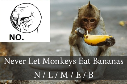 Never Let Monkeys Eat Bananas